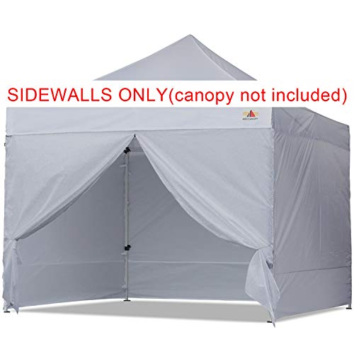 ABCCANOPY Sidewall Kit, Paint Booth Side Walls for 10x10 Feet Pop up Canopy, Beach Tent, Instant Shelter, 4 Walls ONLY, Gray