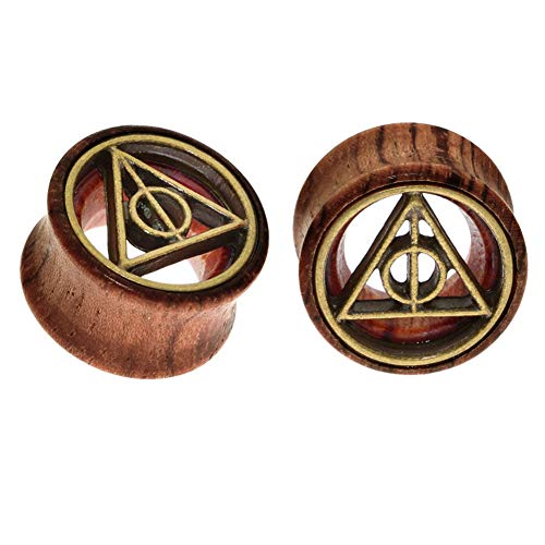 FECTAS 1 Paar Flesh Ohr Tunnel aus Holz Ear Ohr Plug Stretcher Expander Piercing Ohrpiercing(8-20mm)