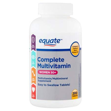 Equate Complete Multivitamin Women 50+, 200 Tablets