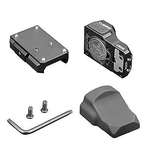 Cyelee Micro Red Dot Sight, Mini 3 MOA Green Dot Reflex Sight, with Weaver/Picatinny Mount for Pistol/Rifle/Shotgun (Frog-Green DOT)