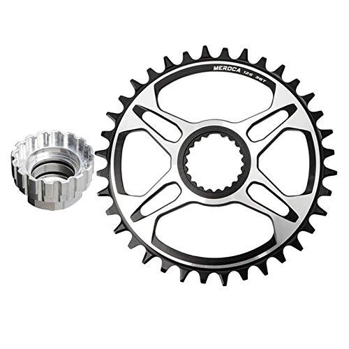 SunniMix Bike Single Engen Breite Direct Mount Kettenblatt 12 Geschwindigkeit Aluminium Runde für Shimano M6100 M7100 M8100 M9100 Kurbeln - 36T Montage Werkzeug