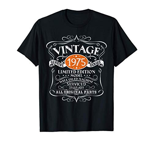 Vintage 1975 45th Birthday All Original Parts Gift Camiseta