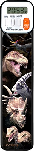Mark-My-Time 3D Dinosaur Digital Bookmark and Reading Timer