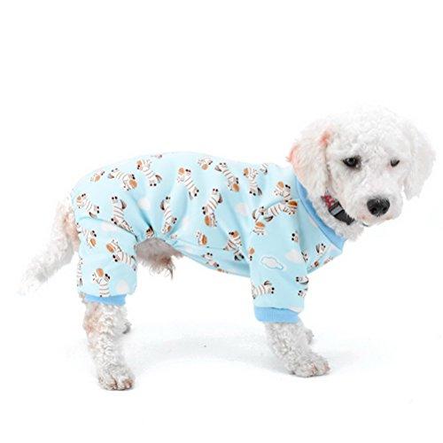 Zunea Puppy Innen Outfits Fleece gefüttert Zebra Kleine Hund Winter Schlafanzüge Hund Kleid Dackel Chihuahua Yorkie Kleidung Outfits Apparel