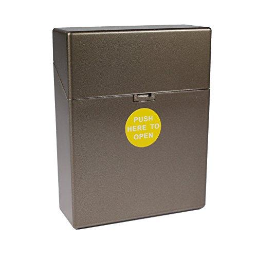 Zigarettenbox Kunststoff Zigarettenetui XL Big Box für 25 Zigaretten mit Push Open Funktion (Bronze)