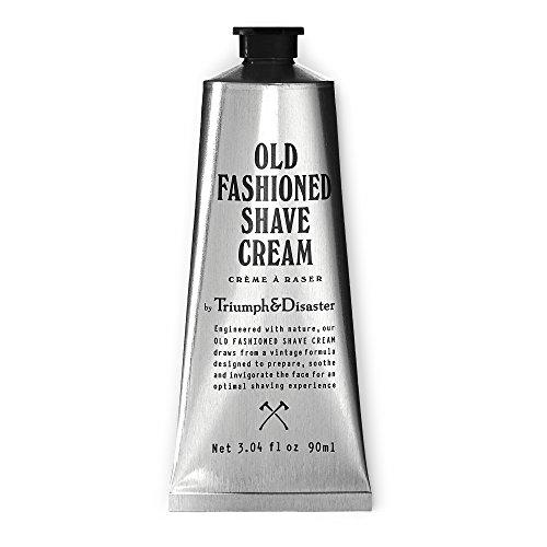 Triumph & Disaster Old Fashioned Shave Cream - Tubo de 90 ml (da más de 90 afeitados) - con compuestos orgánicos Extractos de aceite de coco y agentes activos para brindar un afeitado suave y cómodo