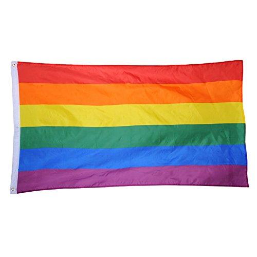 ZEEREE Regenbogenfahne große Flagge Anhänger Regenbogenfahne Polyester hängen Homosexuell Flagge LGBT Pride Parade
