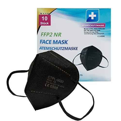 Face Mask FFP2 Maske schwarz NR 5-lagig | Atemschutzmaske | hohe Filterleistung | Maske hygienisch einzeln verpackt | CE geprüft