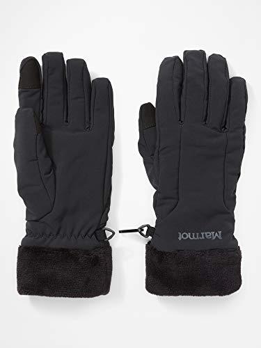 Marmot Damen Wm's Fuzzy Wuzzy Glove Softshell Handschuhe, Winddicht, Wasserabweisend, schwarz (2020 Version), L