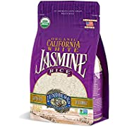Lundberg Family Farms - Organic California White Jasmine Rice, Pantry Staple, Great for Cooking, Gluten-Free, Non-GMO, USDA Certified Organic, Vegan, Kosher (32 oz)