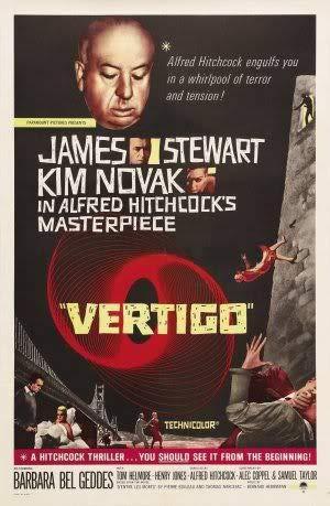 Vertigo - James Stewart – Film Poster Plakat Drucken Bild – 43.2 x 60.7cm Größe Grösse Filmplakat Alfred Hitchcock