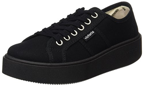 Victoria Unisex Basket Lona Piso Negro Sneaker buty sportowe, czarny - Schwarz Negro 10-42 EU