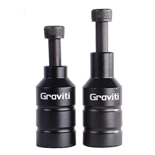 GRAVITI Pro Stunt Scooter Pegs CNC Aluminum Pegs with Strong Axle Hardware for Kick Stunt Scooter Freestyle Stunt Scooters(NEO Chrome)