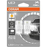 OSRAM 7706YE-02B LED Retrofit, Giallo, W21W, Set di 2
