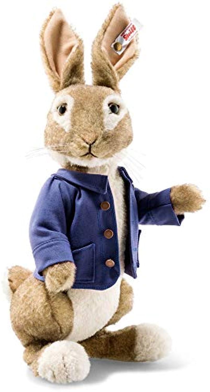 Steiff 355189 Peter Rabbit 29 cm braun beige 3-Fach gegliedert (Arme und Kopf) stehend