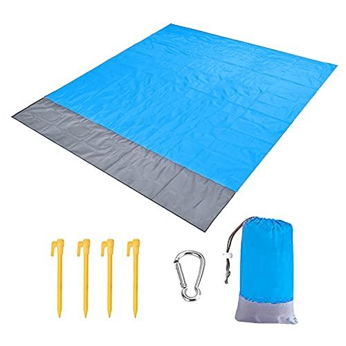 FEIHAIYANY Colchoneta de playa impermeable para exteriores, portátil, de picnic, para camping, cama, colchón, colchón, colchón, colchón, colchón, cama de camping (tamaño: 200 x 210 cm)