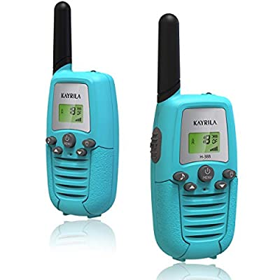 Walkie Talkies for Kids-Long Range FRS 22 Channel 2 Way Radio Walky Talkie Boys Girls Toys with Backlit LCD Flashlight Vox Box Voice Activated-2 Pack (Blue) by Shenzhen JIZHIDA Technology Co.,Ltd.