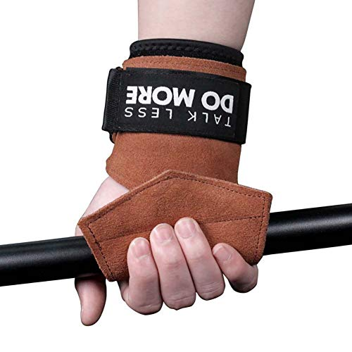 Sawpy 1 par Fitness Palm Support Antideslizante Durable Hand Grips Pad Protector de muñeca Wrap Strap Guantes Gym Dead Lift Training Accesorios