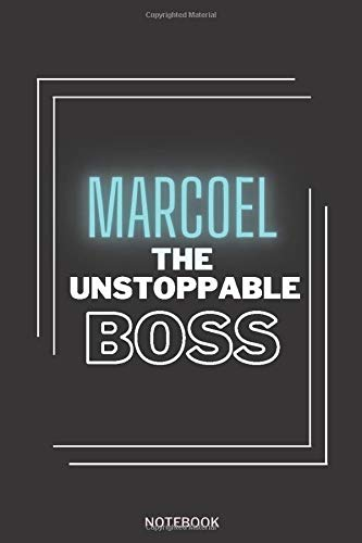 Marco The Unstoppable Boss: Personalized Name Journal for Marco notebook | Birthday Journal Gift | Lined Notebook  Pretty Personalized Name ... | 6x9 Inches , 100 Pages , Soft Cover, Glossy
