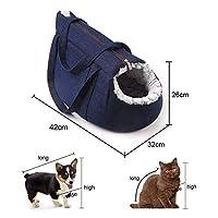 ペットリュック猫リュックサックバックパックハンドバッグ旅行バッグぬいぐるみソフトで快適なポータブルペット用品 (Color : Blue)