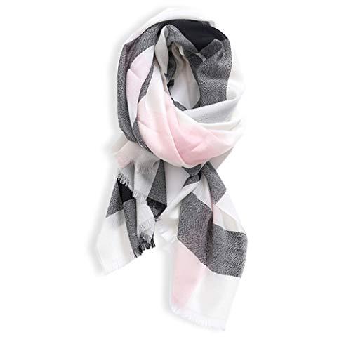 xinxinchaoshi Schal Frauen Basis-Plaid Reiner Wolle-Schal-Schal-Frühling und Herbst und Winter 100% Reine Wolle weiche Exquisite Decke Schal Seidentuch (Color : A)