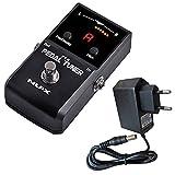 NUX PT-6 - Afinador de pedal para guitarra bajo y fuente de alimentación Keepdrum