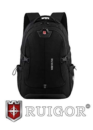 RUIGOR ICON 47 robuster Trekking Rucksack wasserabweisender outdoor Rucksack 30l Laptop Tasche 15.6 Zoll schwarzer Herren Arbeitsrucksack RG6147