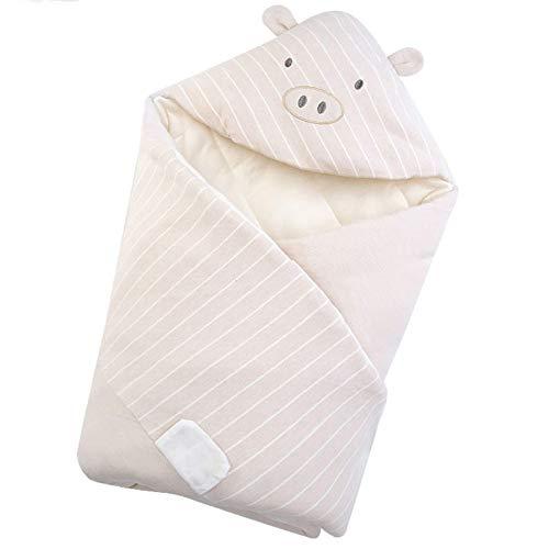 Saco de dormir para bebé Otoño e invierno, manta envolvente para bebé recién nacido Abrigo con capucha Ayuda para dormir para bebé Evita patear la colcha Súper suave Cálido Nuevos regalos para mamá 0-