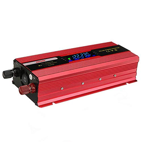 GRTBNH 2000W/4000W/6000W Pure Sine Wave Inverter, Car Inverter DC 12V to AC 220V Voltage Converter with LCD Display and 1 USB Ports, for RV Truck,12v,4000W