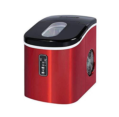 Máquina automática del fabricante del cubo de hielo de la encimera compacta portátil eléctrica 35 libras/24 horas, rojo