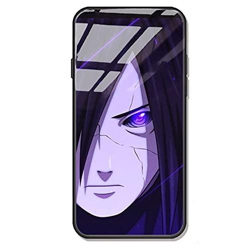ZMMZ Anime Naruto - Carcasa para iPhone 7/8, 7p/8p, XR, XS Max, vidrio templado para hombres y hombres+TPU silicona parachoques anti-arañazos C-XS