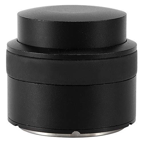 Kaffee-Manipulation, Edelstahl-Pressentyp Kaffee-Manipulation Verteiler-Richtwerkzeug Kaffeezubehör Schwarz 57mm