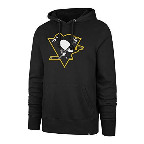 47 Forty Seven Brand Pittsburgh Penguins Imprint Headline Hoody Jet Black Mens Kapuzenpullover Herren