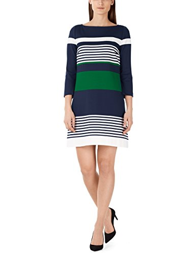 Marc Cain Additions Damen Ka 21.02 J27 Kleid, Mehrfarbig (Space Blue 393), 36