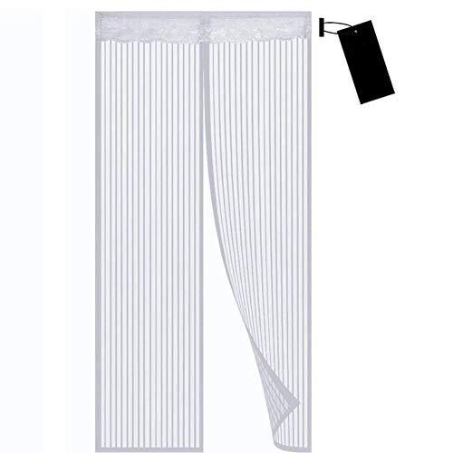 Zanzariera Magnetica per Porte, 160x235cm , Chiusura Automatica,totalmente magnetica, facile da installare, Facile da pulire, Supporta la personalizzazione a grandezza naturale, bianca