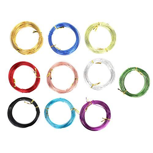 10 rollos flexibles de alambre de metal para manualidades, joyería de alambre para pendientes, pulsera y jardín