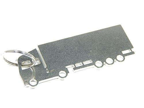 Portachiavi 'Autotreno', camion LKW, in acciaio INOX di alta qualità