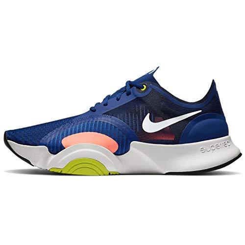 Nike Zapatillas de entrenamiento para hombre, Deep Royal Azul/White-light Bone-Cyber, 44.5 EU