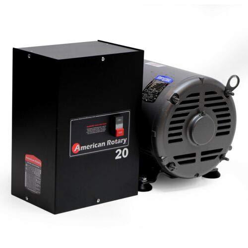 Rotary Phase Converter AR20 - 20 HP 1 to 3 Three PH Made is USA