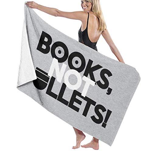 Books Not Bullets Toalla de baño Premium Co toalla de baño. Suave, felpa y muy absorbente