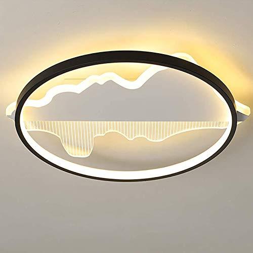 YALTOL Luz de Techo LED Luz Redonda Creativa Luz de Techo Dimensión Infinita con Control Remoto para Sala de Estar Dormitorio Dormitorio Material acrílico de luminio [Clase A Energía]