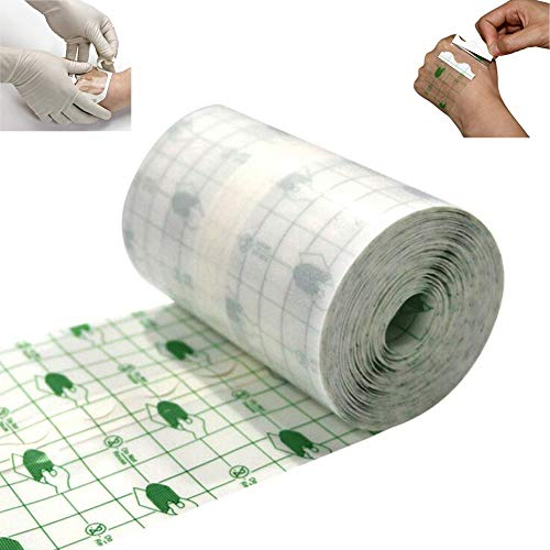 Transparent Stretch Adhesive Bandage Fixed Tattoo Roll - Waterproof Transparent Adhesive Dressing Fixer Plaster Stretch Fixation Tape Bandage