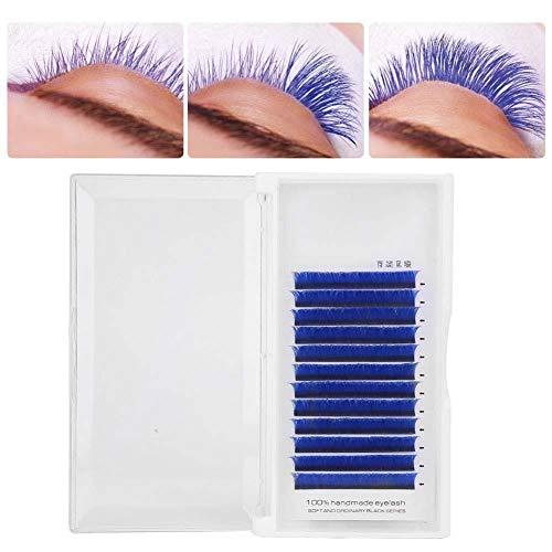 Greffe de faux cils - Faux cils en forme de V bleu Curl naturel Greffe Grey Eye Lashes Extension de cils Beauté trop