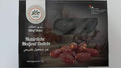 Dattes Medjool de Palestine | 1 Kg de dattes d'origine 100% naturelle | Déshydratées | Sans soufre et sans sucre | Fruit sec cru | Végétariens et végétaliens | Medjool date from Palestine | Dorimed