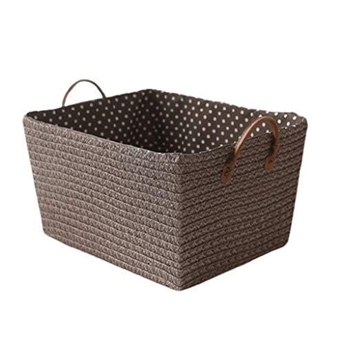 Cestos De Almacenaje Ratán Dirty Laundry Basket Imitación, Organizador De Escritorio Superficial Cesta, La Cesta Del Almacenaje For Las Misceláneas Ropa, Cuarto De Baño Caja de almacenamiento multifun