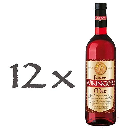 Roter Wikinger Met 12 x 0,75l Honigwein mit Kirschsaft