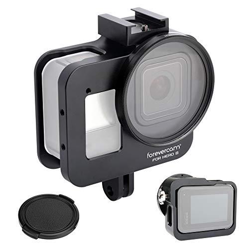 Forevercam Coque en Aluminium pour caméra d'action GoPro Hero 8 sans Coque arrière, 2019 Hero 8 Noir