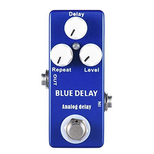 Gate Gitaareffectpedaal, mini overdrive pedaal draagbaar, diep blauw delay mini gitaareffect pedaal True Bypass gitaar…