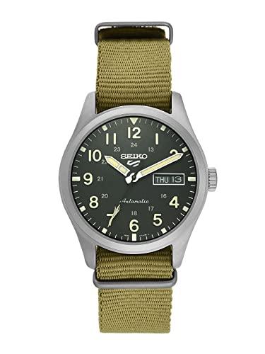Seiko Herren Analog Automatik Uhr mit Nylon Armband SRPG35K1
