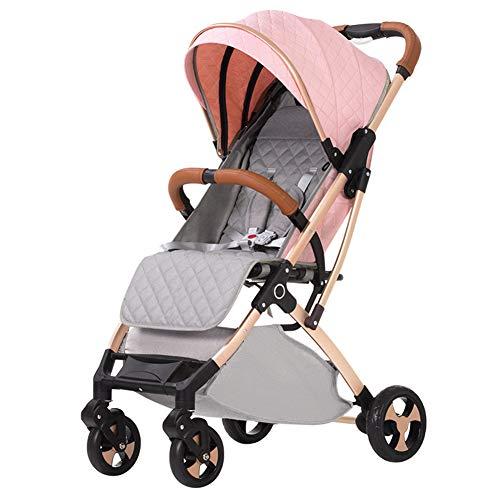 Poussette Canne de Voyage légère - Parapluie pour Poussette Pratique - Auvent surdimensionné - Siège inclinable - Pliage à Une Main - Alliage d'aluminium - du bébé à l'enfant